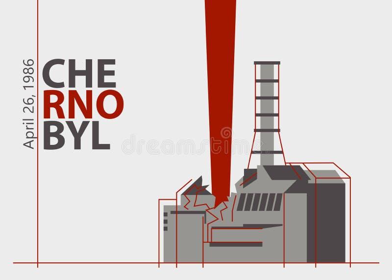 在切尔诺贝利植物的核事故在Pripyat,乌克兰附近,在苏联,1986年4月26日 免版税图库摄影