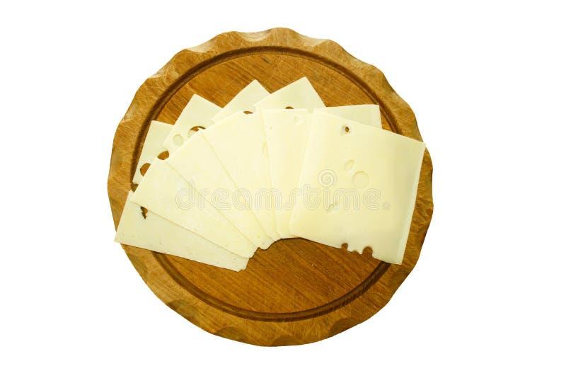 瑞士乳酪切片 库存图片