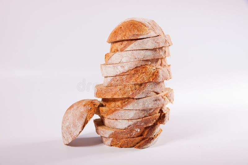 在切片cutted的面包 免版税图库摄影