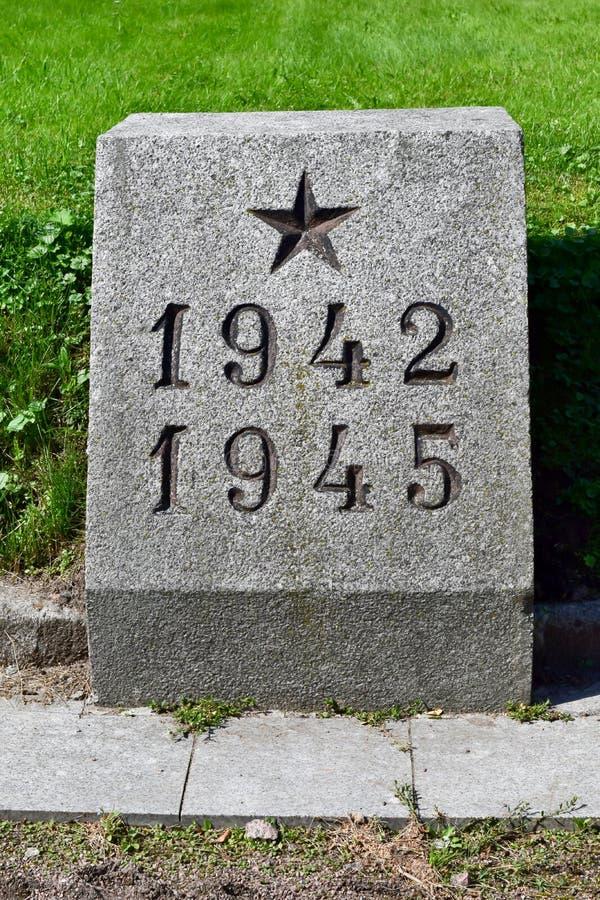 在列宁格勒,苏联围困杀害的那些的万人冢  库存照片