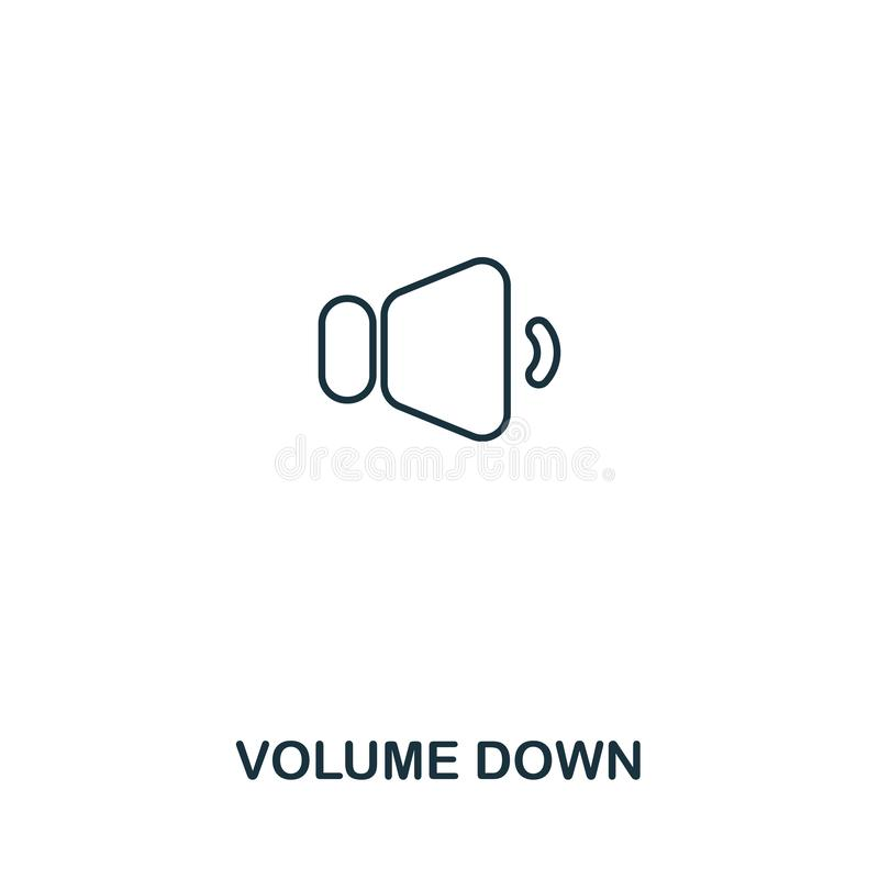 在创造性的象下的容量 简单的元素例证 在概念标志设计下的容量从音频按钮汇集 理想 皇族释放例证