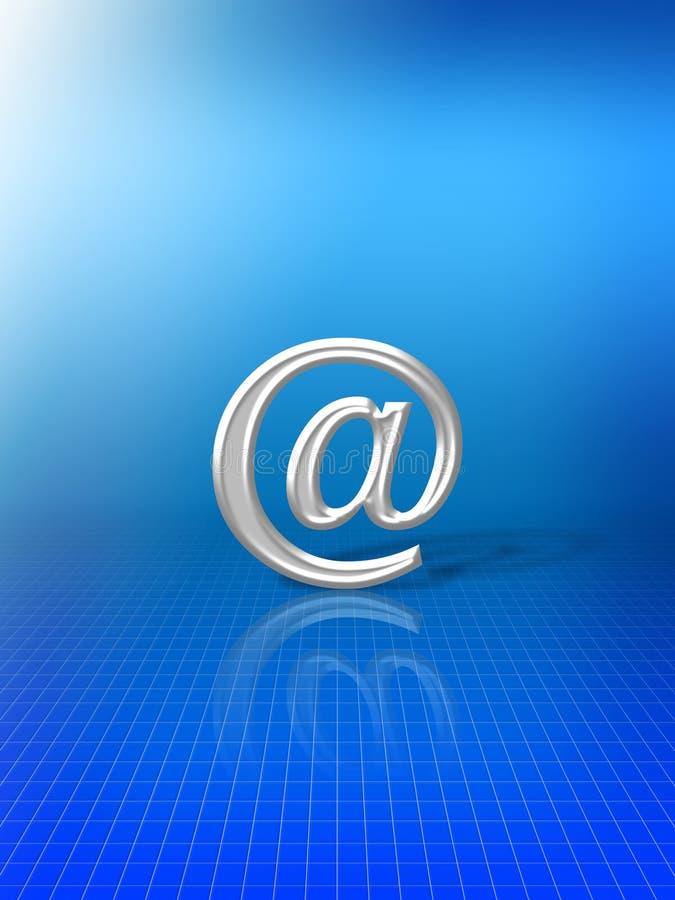 在别名符号电子邮件 皇族释放例证