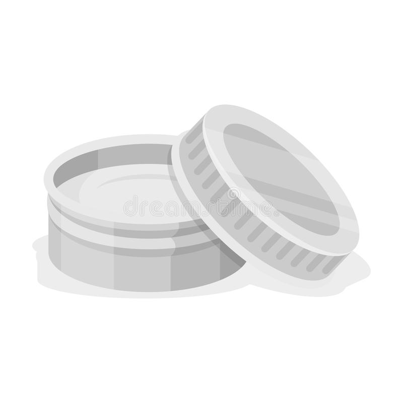 在刮脸奶油以后 在单色样式传染媒介标志股票例证网的理发店唯一象 库存例证