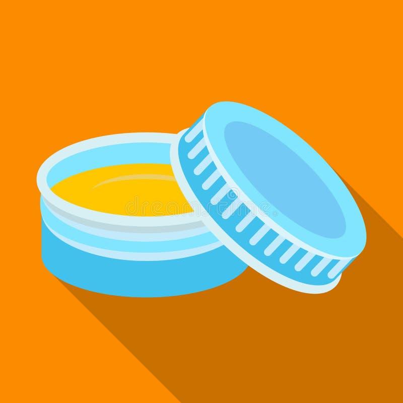 在刮脸奶油以后 在平的样式传染媒介标志股票例证网的理发店唯一象 库存例证