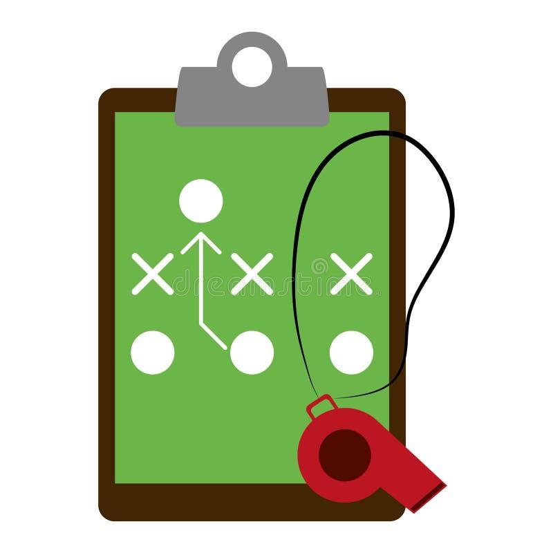 在剪贴板的橄榄球战略 皇族释放例证