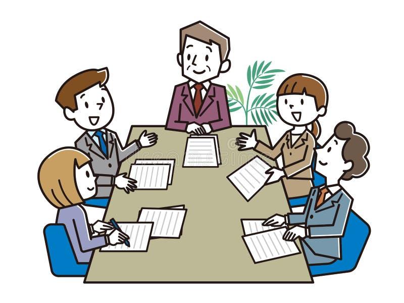 在办公室室的业务会议 向量例证. 插画 包括有 例证, 图片