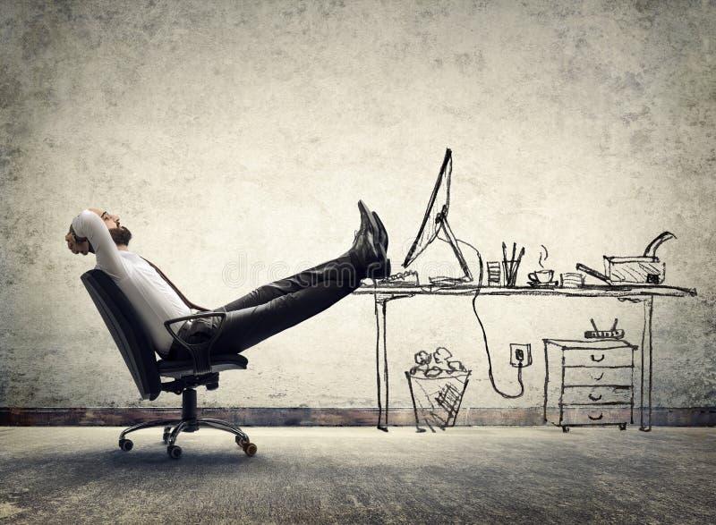在办公室-人开会放松 免版税图库摄影
