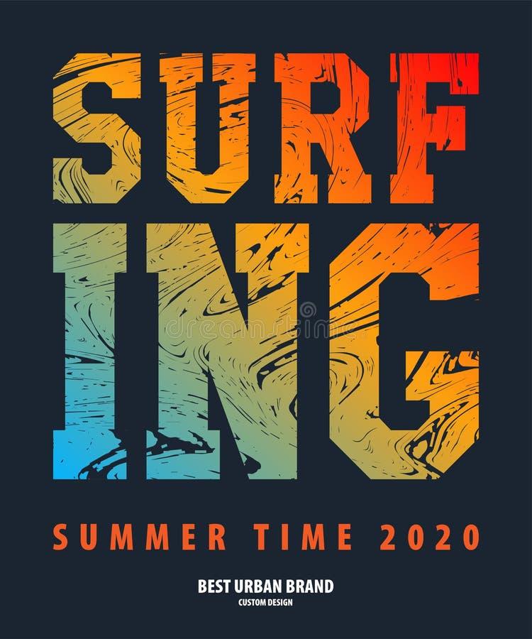 在加利福尼亚导航在题材的例证海浪车手和冲浪 库存例证