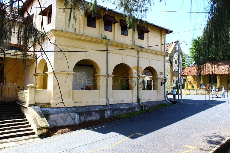 在加勒堡垒的历史建筑 免版税库存图片