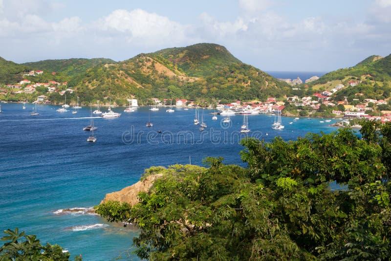 在加勒比岛马提尼克岛的看法。 免版税库存图片