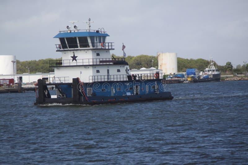在加尔维斯顿得克萨斯入口口岸的运输和商务traffice向墨西哥湾 库存图片