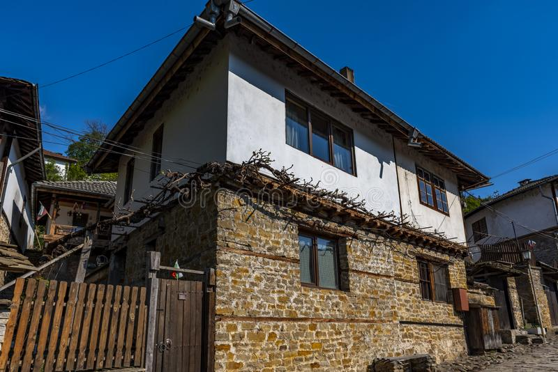 在加布罗沃保加利亚附近的民族志学民族志学博物馆 免版税库存图片