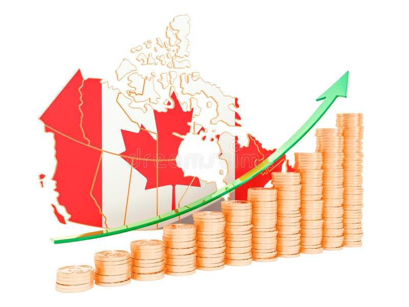 在加拿大概念,3D的经济增长翻译 向量例证