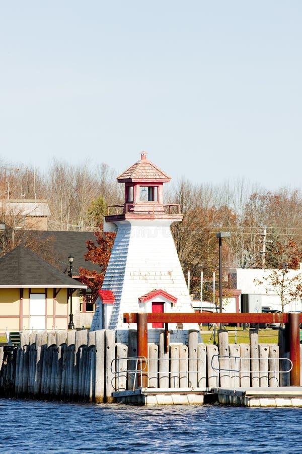在加拿大边界的灯塔,加来,缅因,美国 库存照片