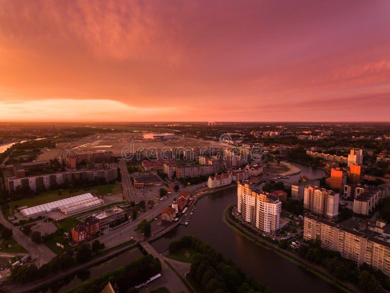在加里宁格勒的日出 免版税图库摄影