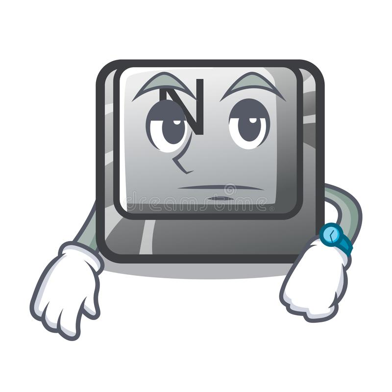 在动画片形状的等待的按钮N 皇族释放例证