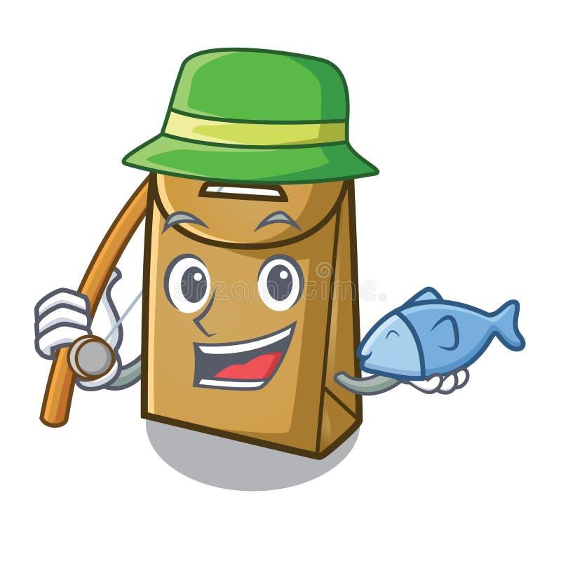 在动画片形状的鱼膏纸袋子 向量例证