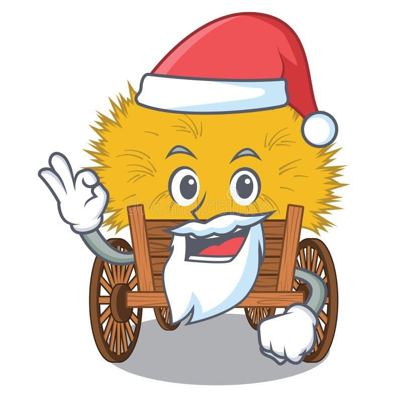 在动画片木桌上的圣诞老人微型haydire 皇族释放例证