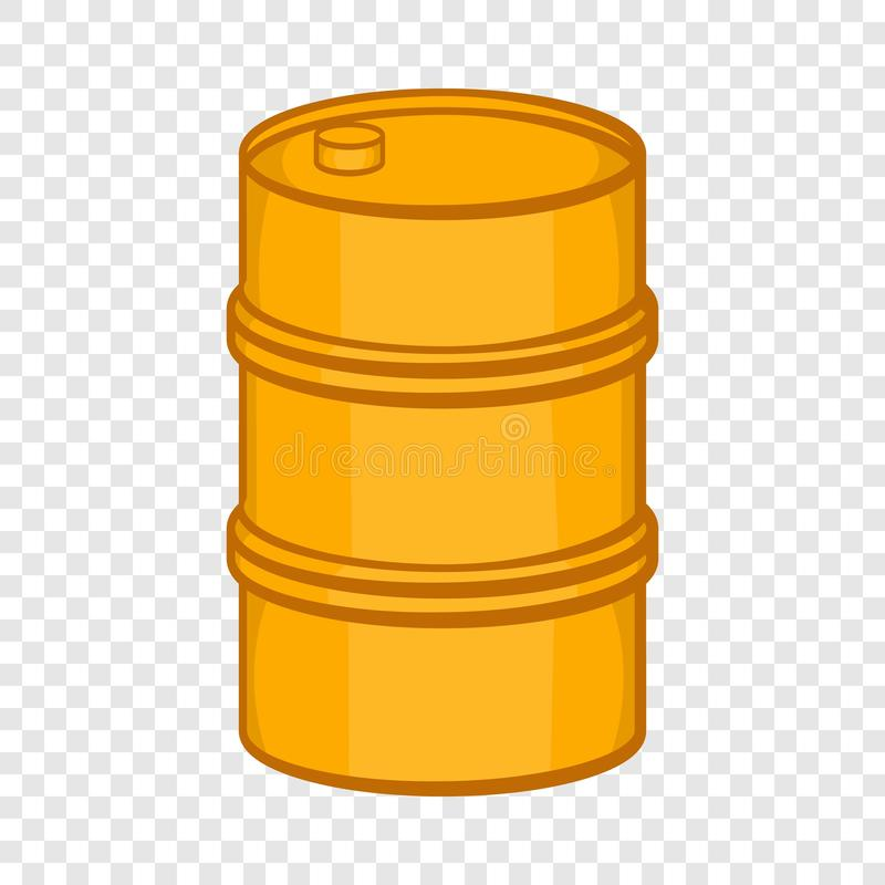 橙色桶象,动画片样式 库存例证