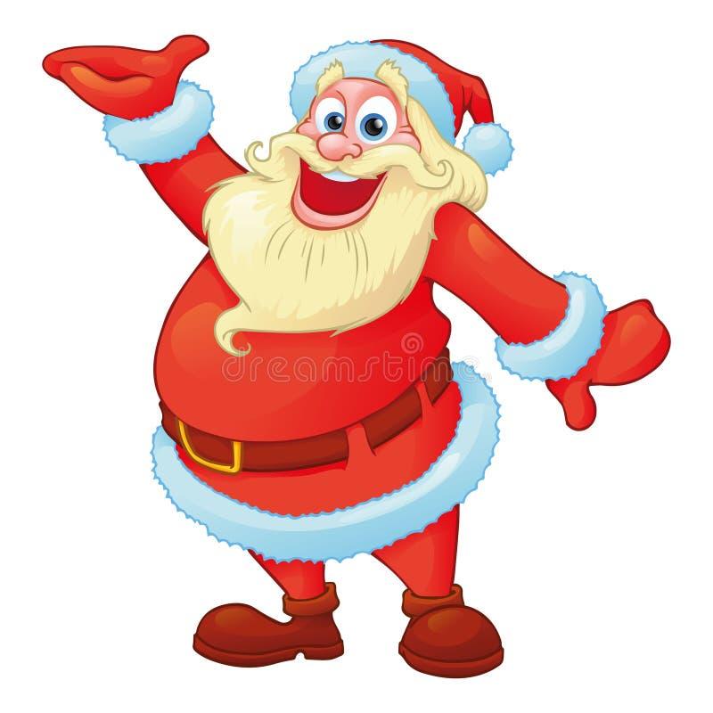 在动画片样式的滑稽的圣诞老人 皇族释放例证