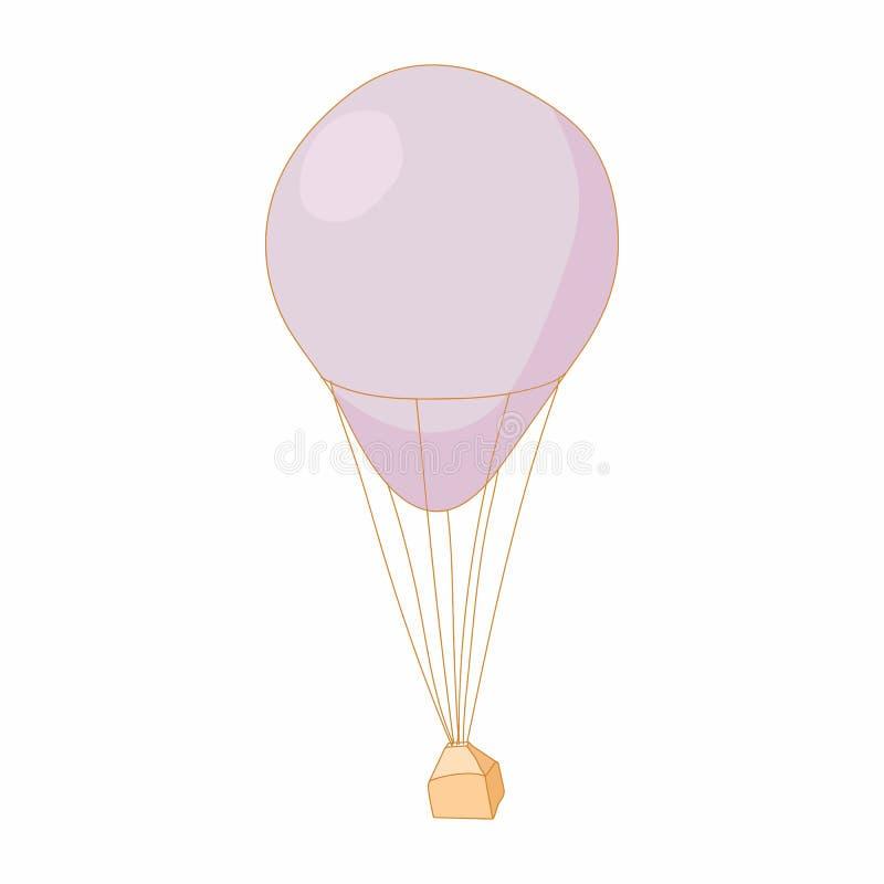 在动画片样式的降伞象 库存例证
