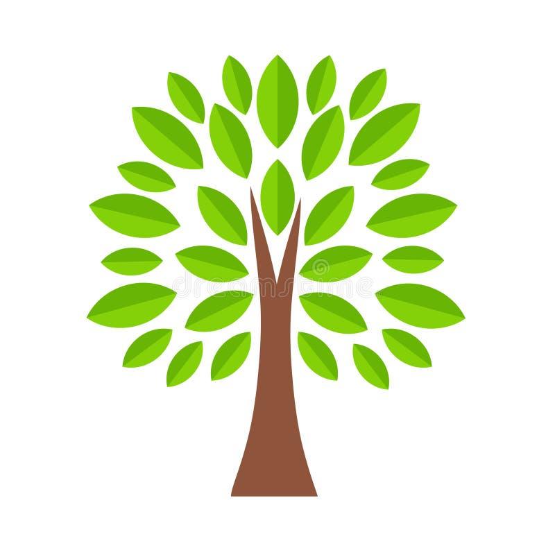 在动画片样式,储蓄传染媒介例证的树象 库存例证