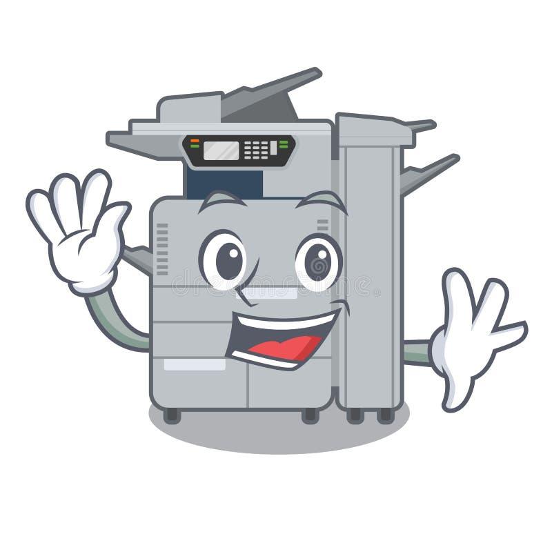 在动画片隔绝的挥动的影印机机器 库存例证