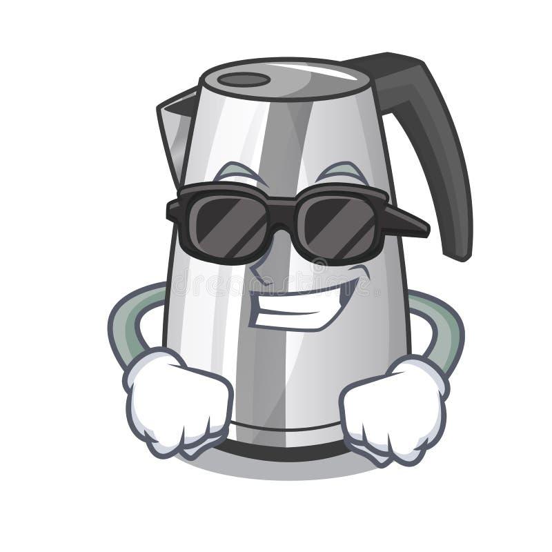 在动画片隔绝的超级凉快的塑料电水壶 库存例证