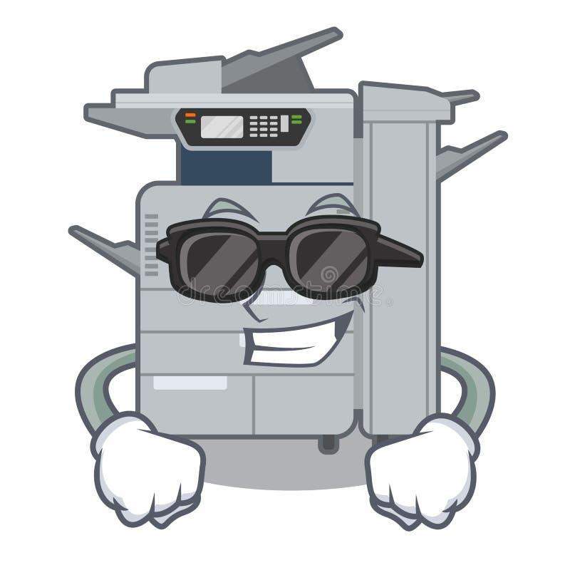 在动画片隔绝的超级凉快的影印机机器 向量例证