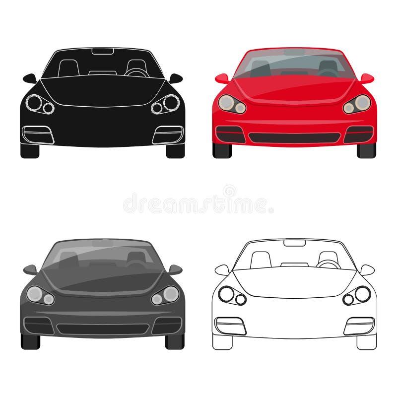 在动画片,概述,设计的黑样式的汽车唯一象 汽车维护驻地传染媒介标志股票例证网 皇族释放例证