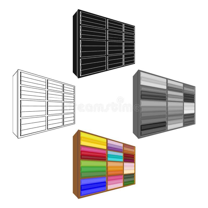 在动画片,黑样式的机架唯一象 机架,传染媒介标志股票例证网 向量例证
