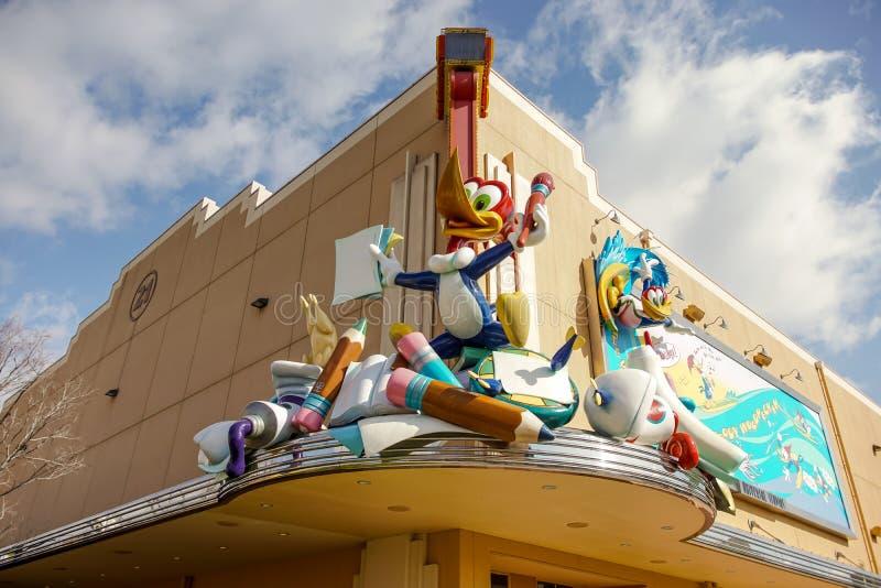 在动画庆祝的伍迪・啄木鸟 库存照片