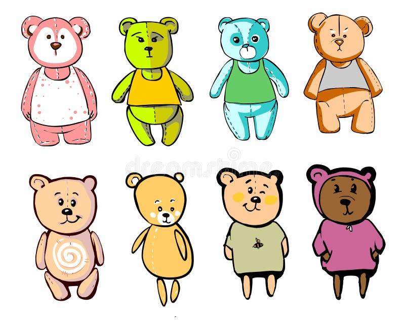 在动画片样式的可爱的熊 免版税库存图片