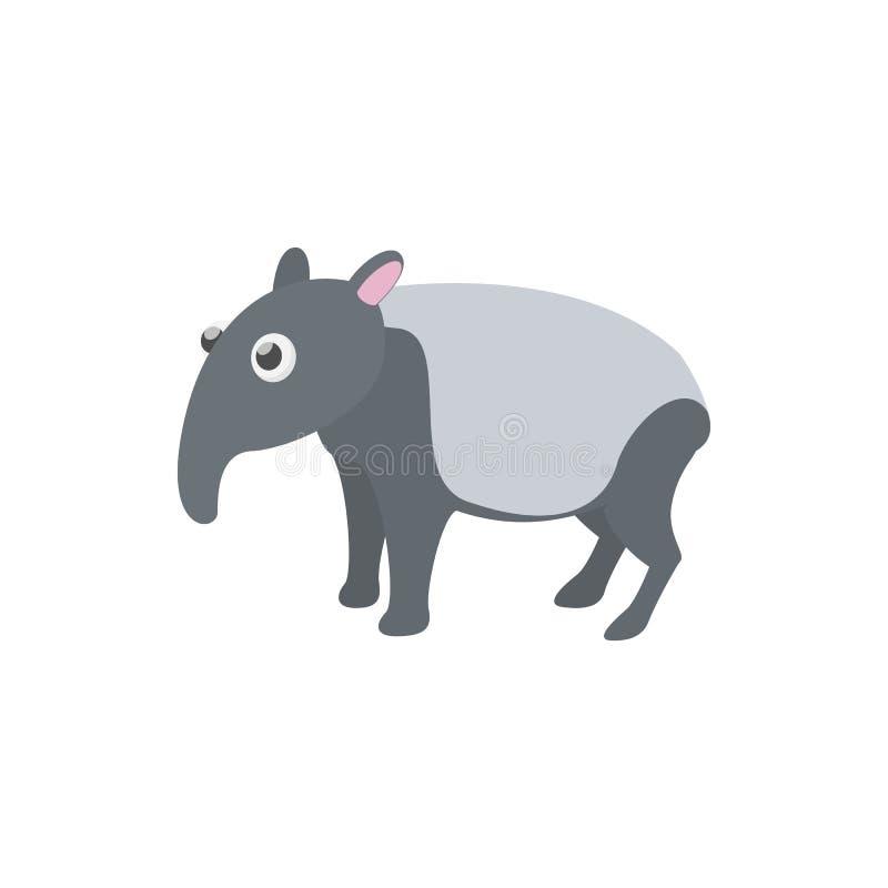 在动画片样式的貘象 库存例证