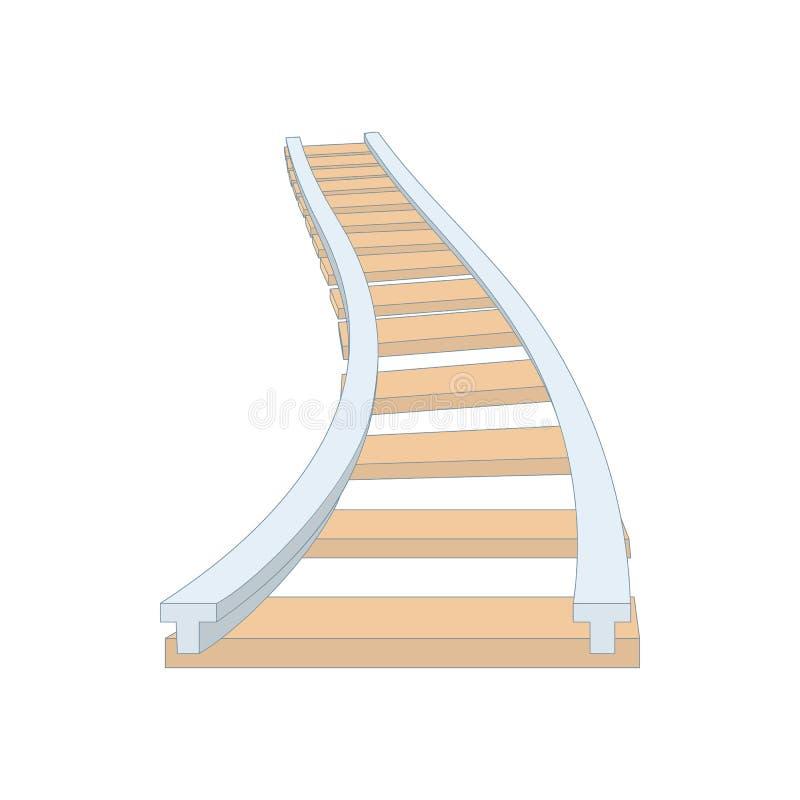 在动画片样式的铁路象 向量例证