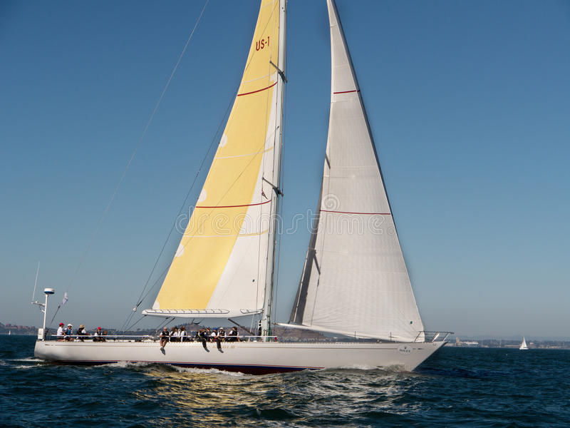 在劳力士杯旧金山的美丽的Kialoa III风船2015年 免版税库存照片
