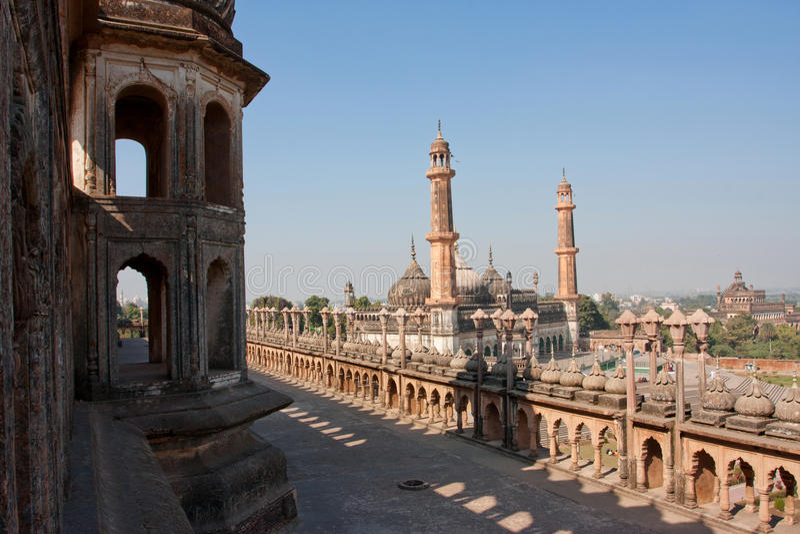 在勒克瑙,印度的Bara Imambara复杂 库存照片