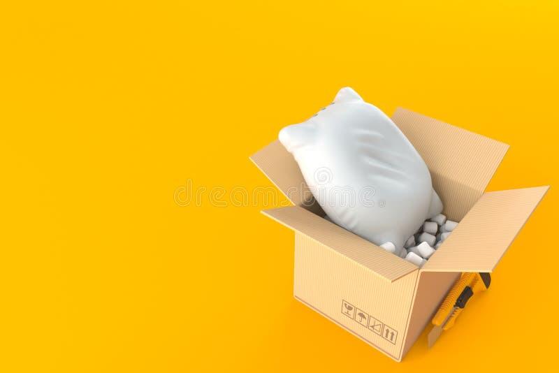 在包裹里面的枕头 皇族释放例证