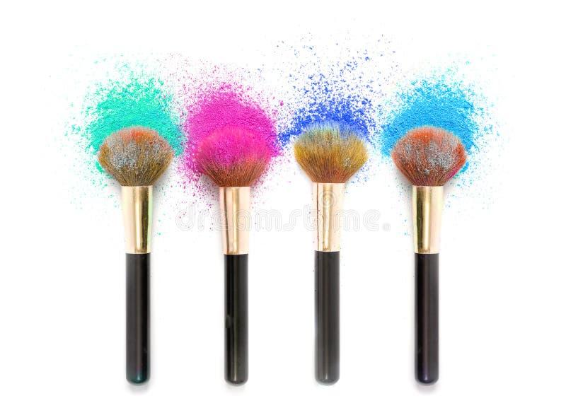 在化妆用品的颜色 库存图片