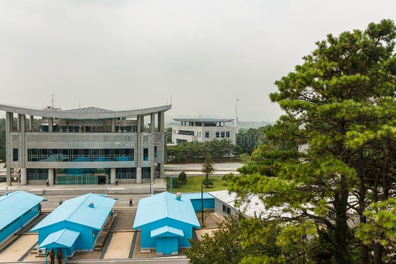 在北部和韩国之间的边界 免版税库存照片