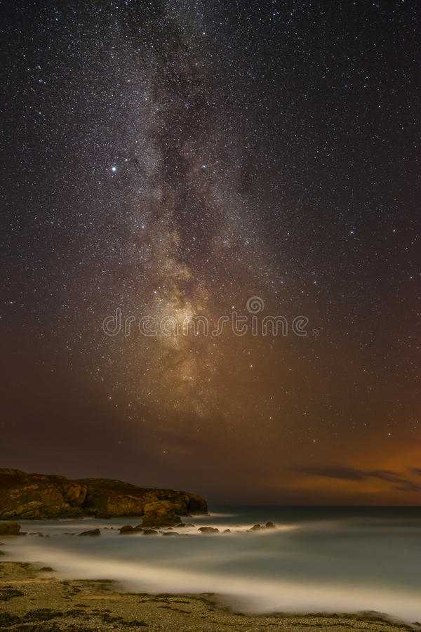 在北部威尔士的夜空 免版税库存照片