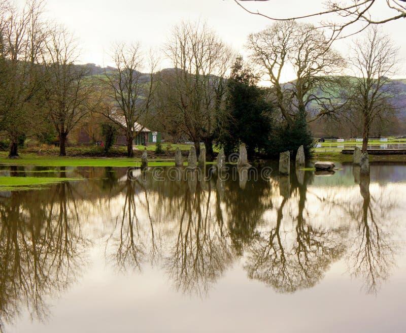 洪水在北部威尔士 免版税库存照片