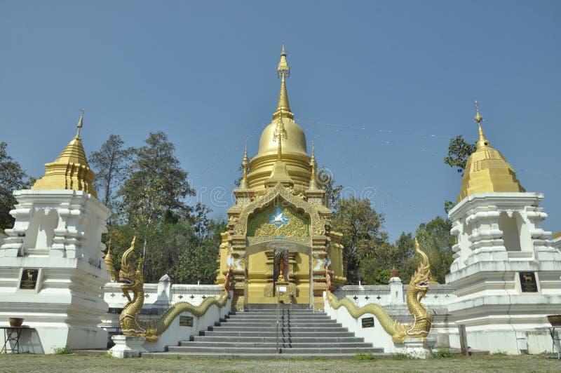 在北部泰国的寺庙 图库摄影
