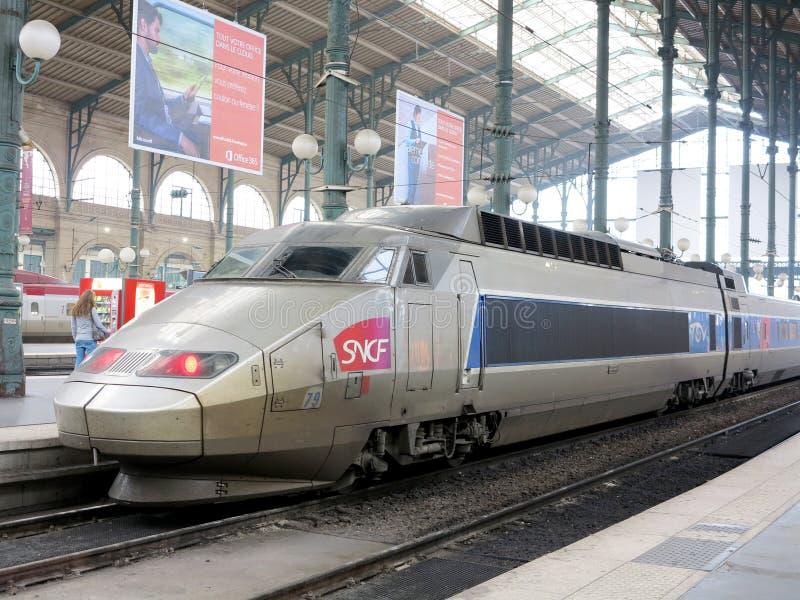 TGV高速火车 库存照片