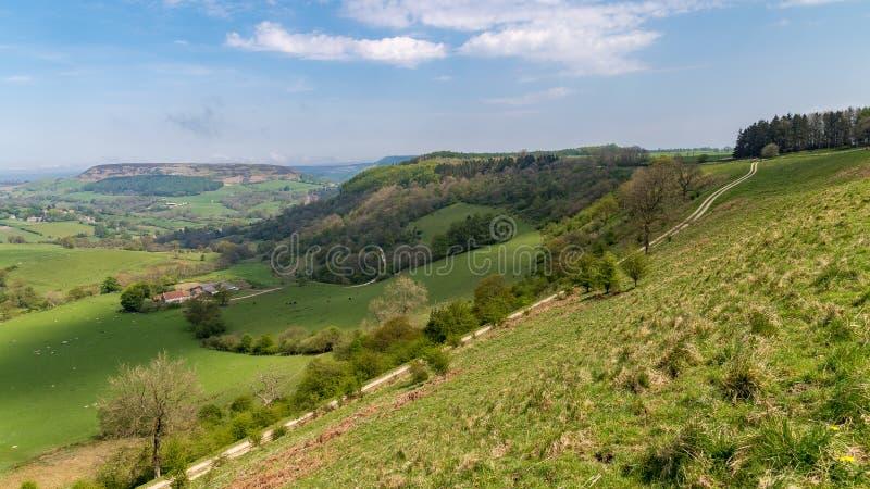 在北部Yorks的风景停泊,英国 库存图片