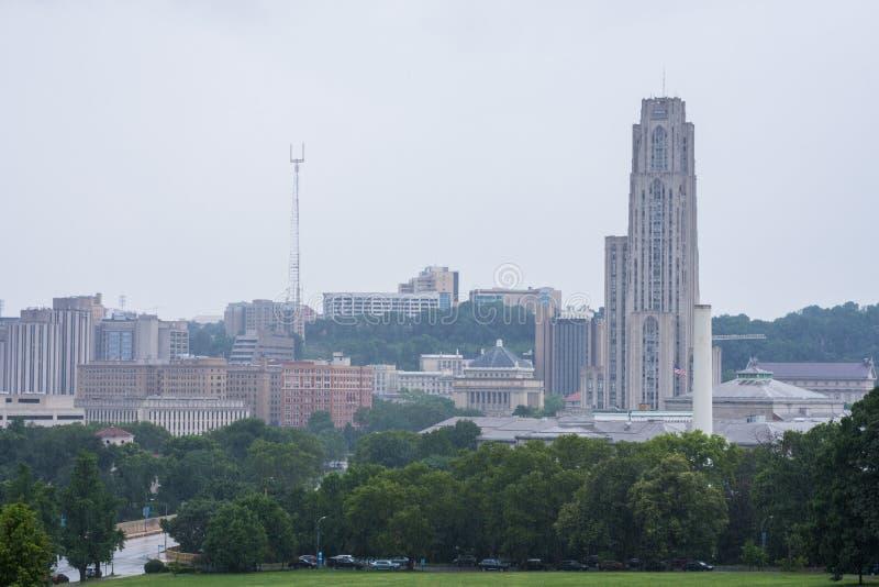 在匹兹堡州立大学旁边的Schenley公园在匹兹堡, 免版税库存图片