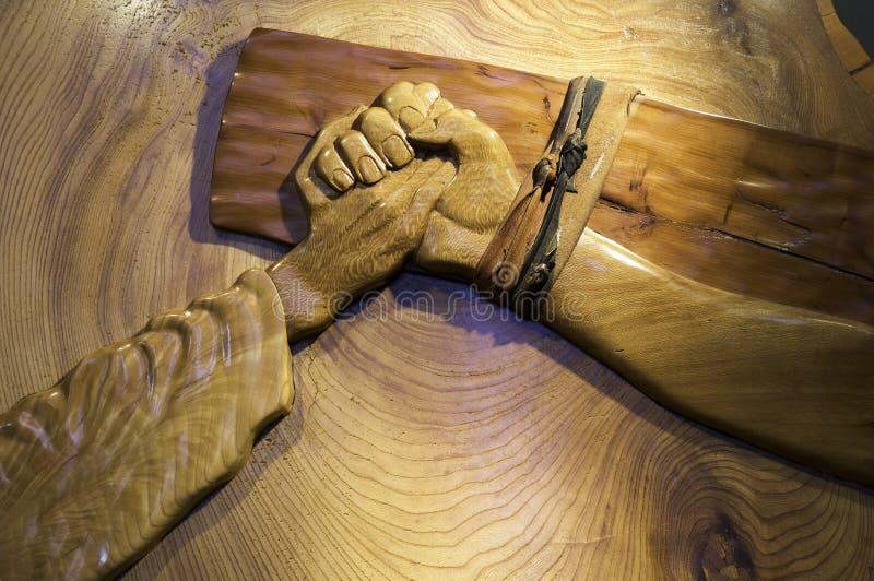 在十字架上钉死林肯 免版税库存图片