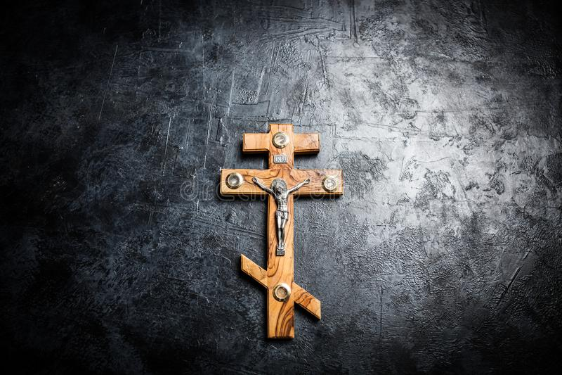 在十字架上钉死耶稣 图库摄影