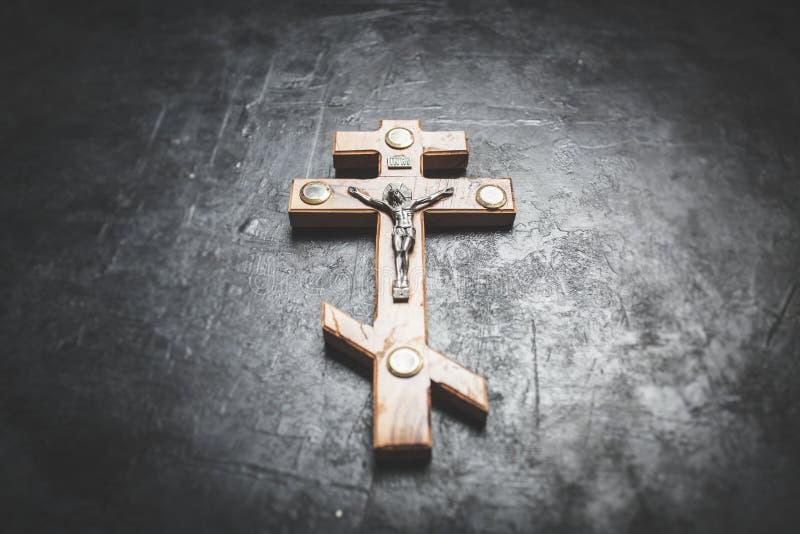 在十字架上钉死耶稣 库存图片