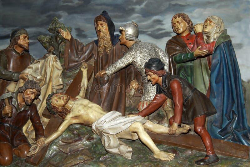 在十字架上钉死 图库摄影